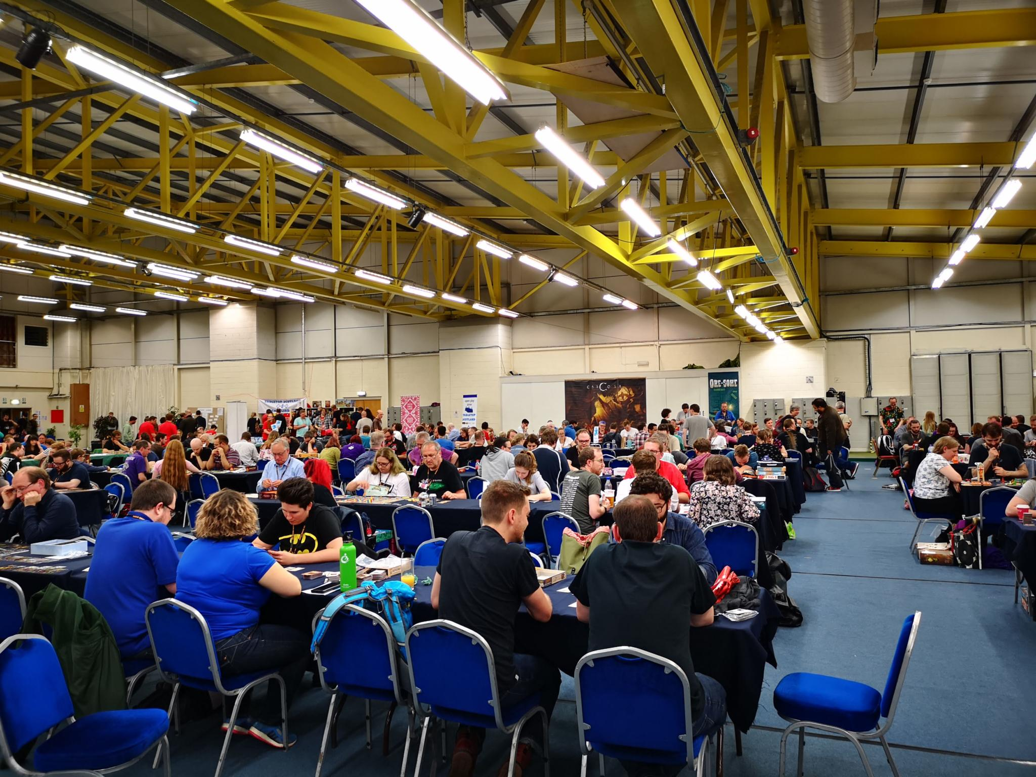 Tables filling up at Tabletop Scotland