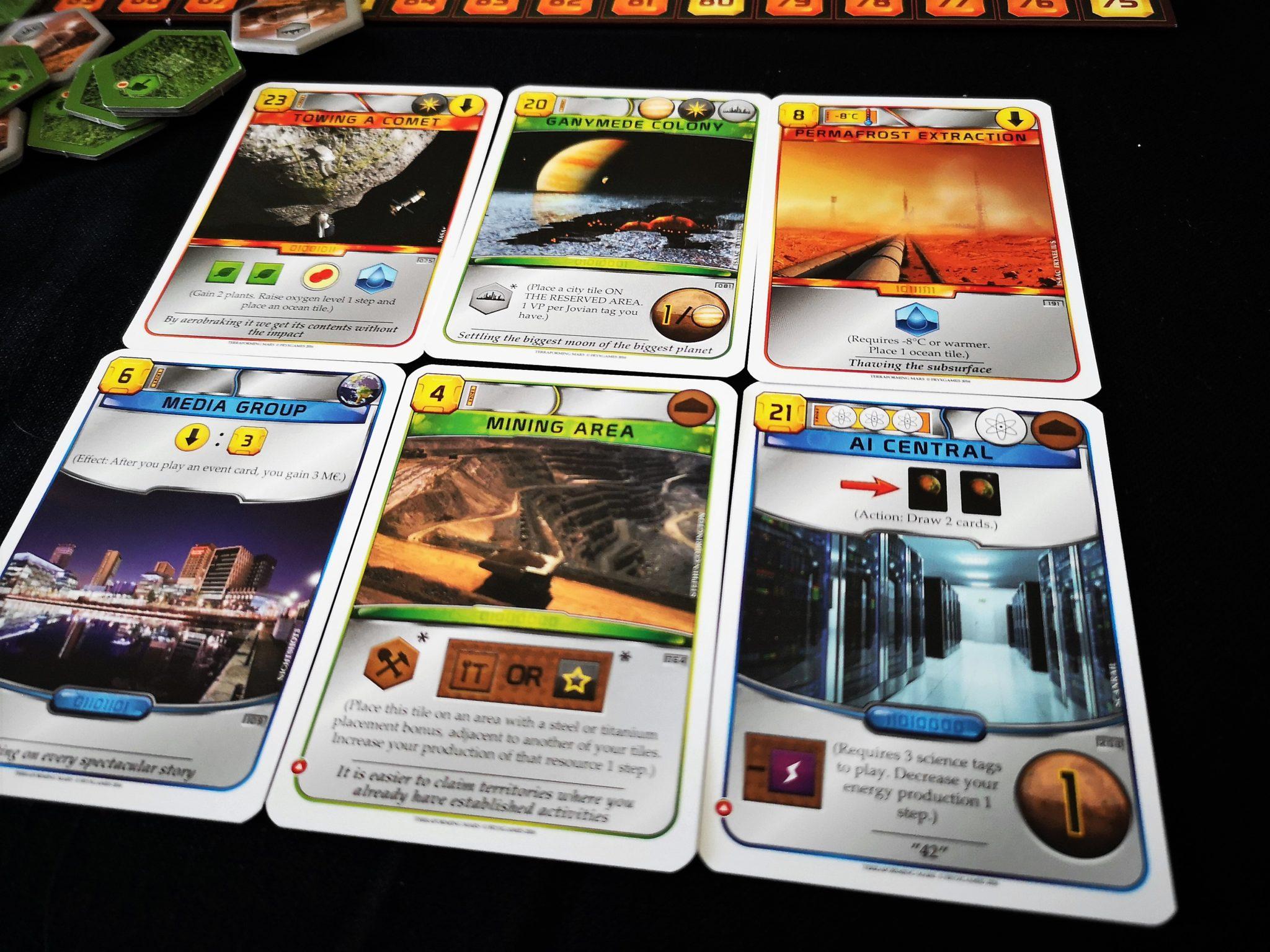 Terraforming Mars cards