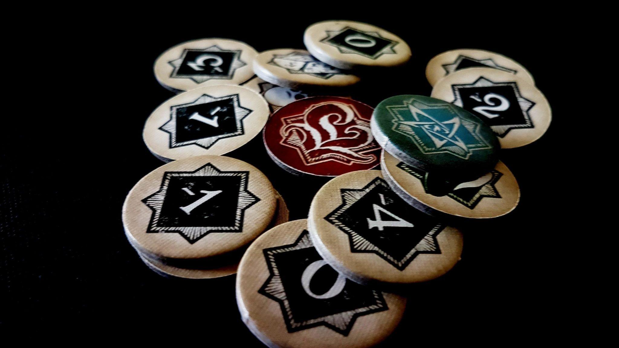 Arkham Horror tokens