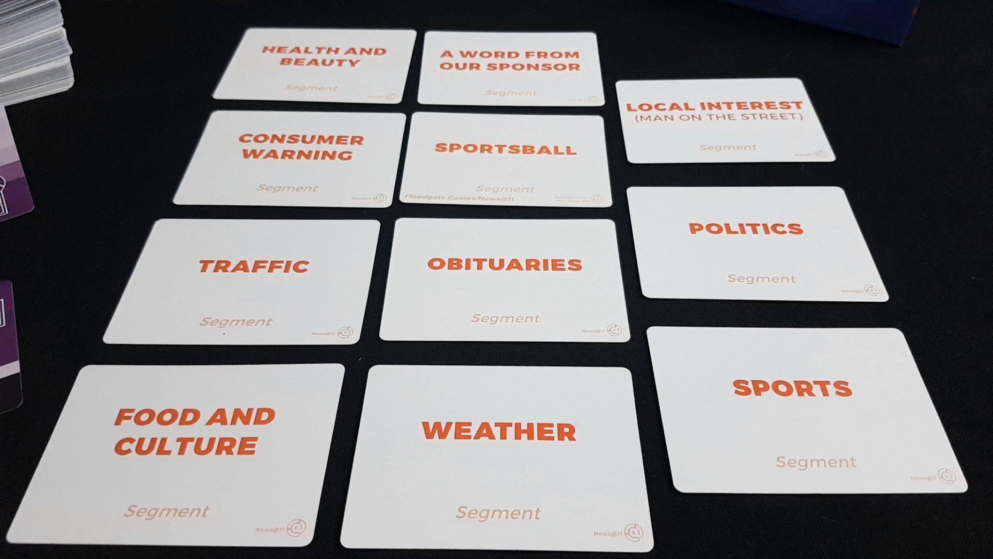 Segment cards