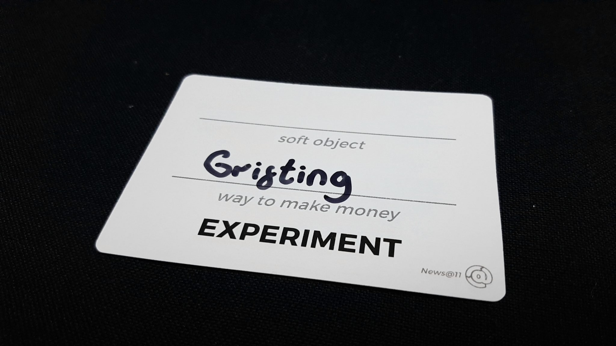 Grifting and Experiment cue card