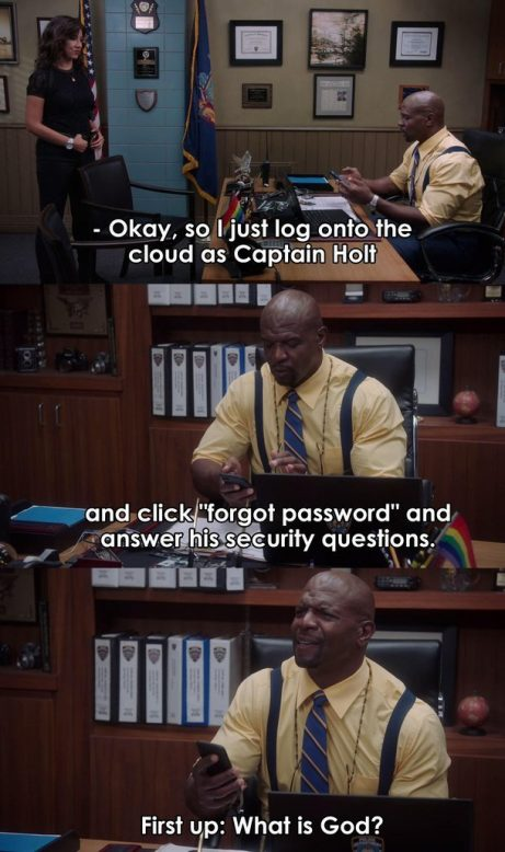 Holt Password reset