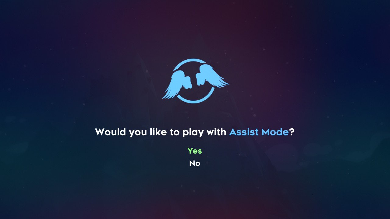 Play with assist mode