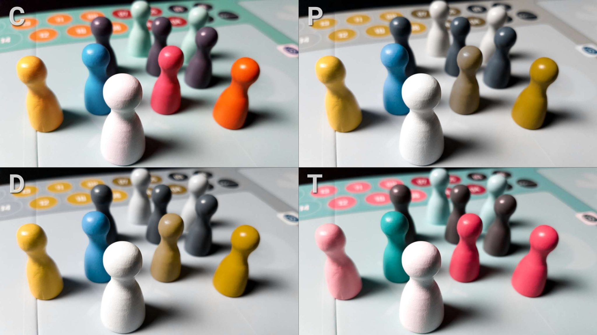 Colour blindness and pawns