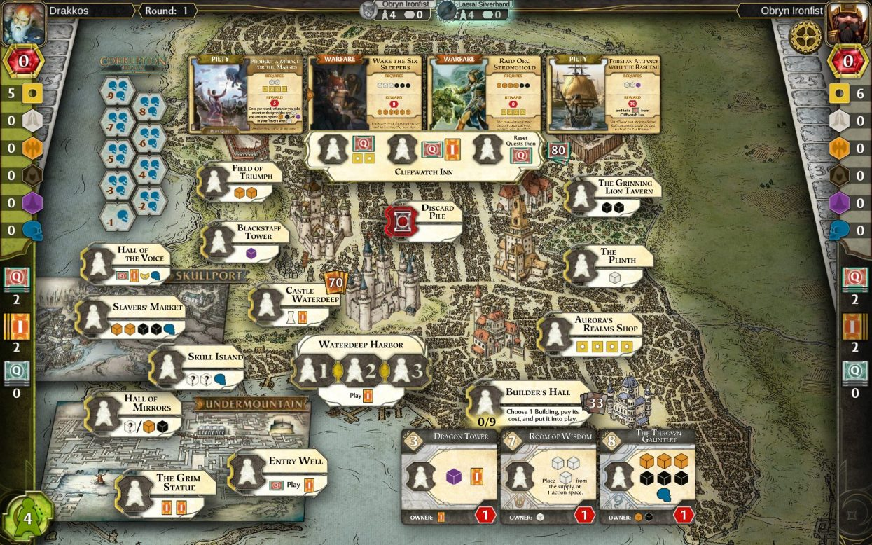 Lords of Waterdeep game map