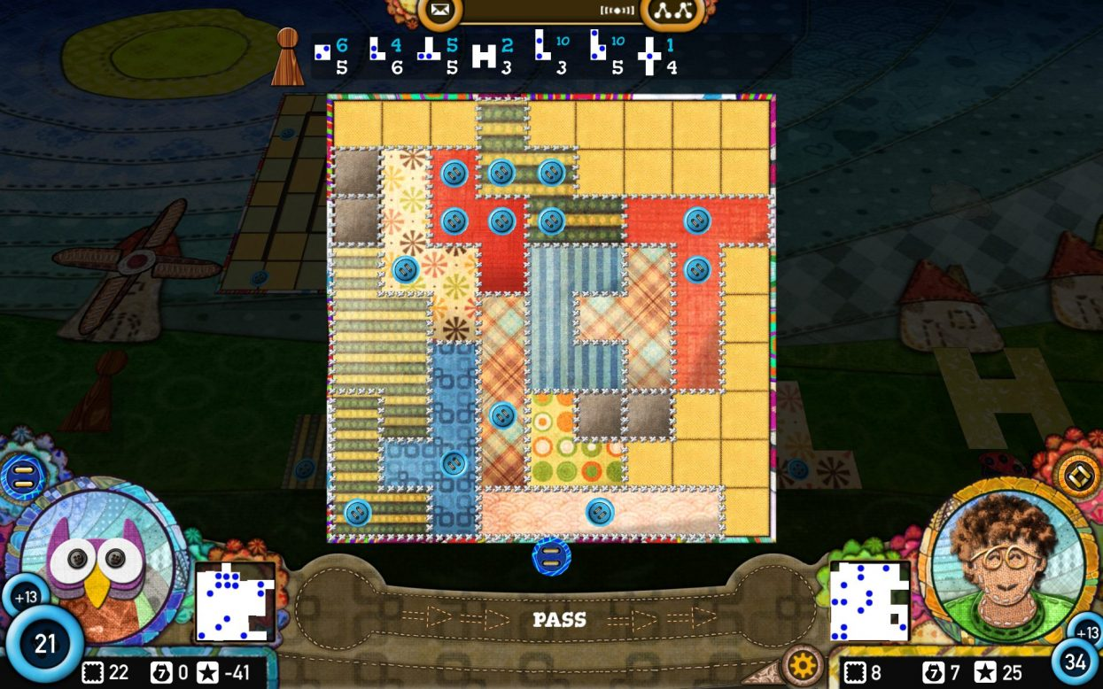 Patchwork screenshot - not one of the best board game apps