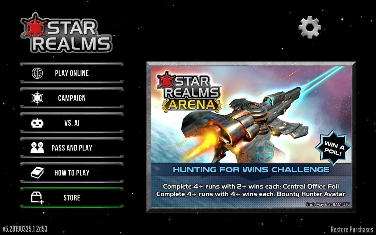 Star Realms expansions screen