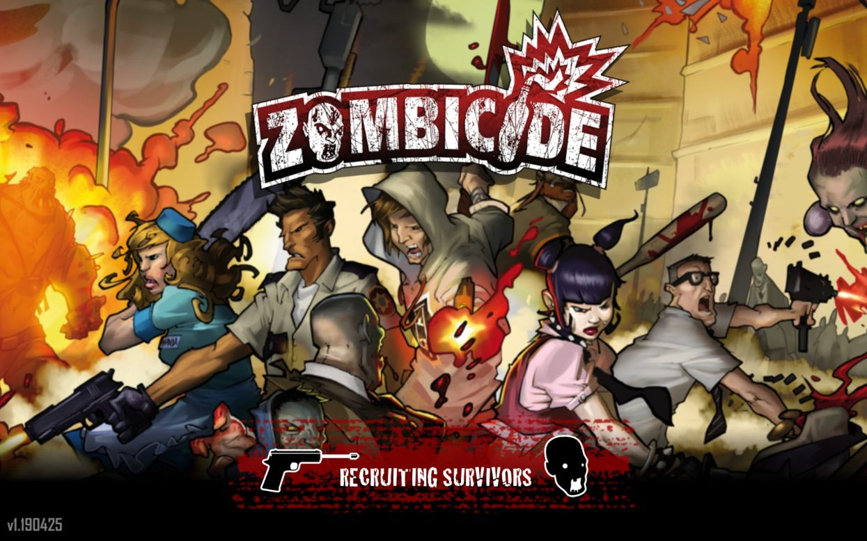 Zombicide app start screen