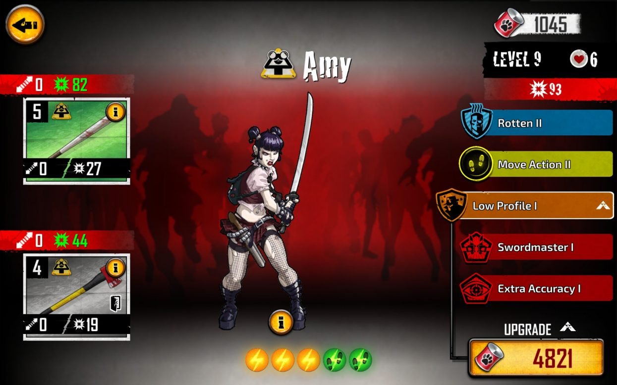 Amy in the Zombicide App