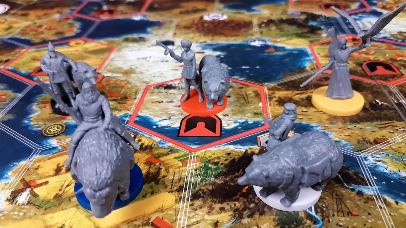 Some of the minis in Scythe
