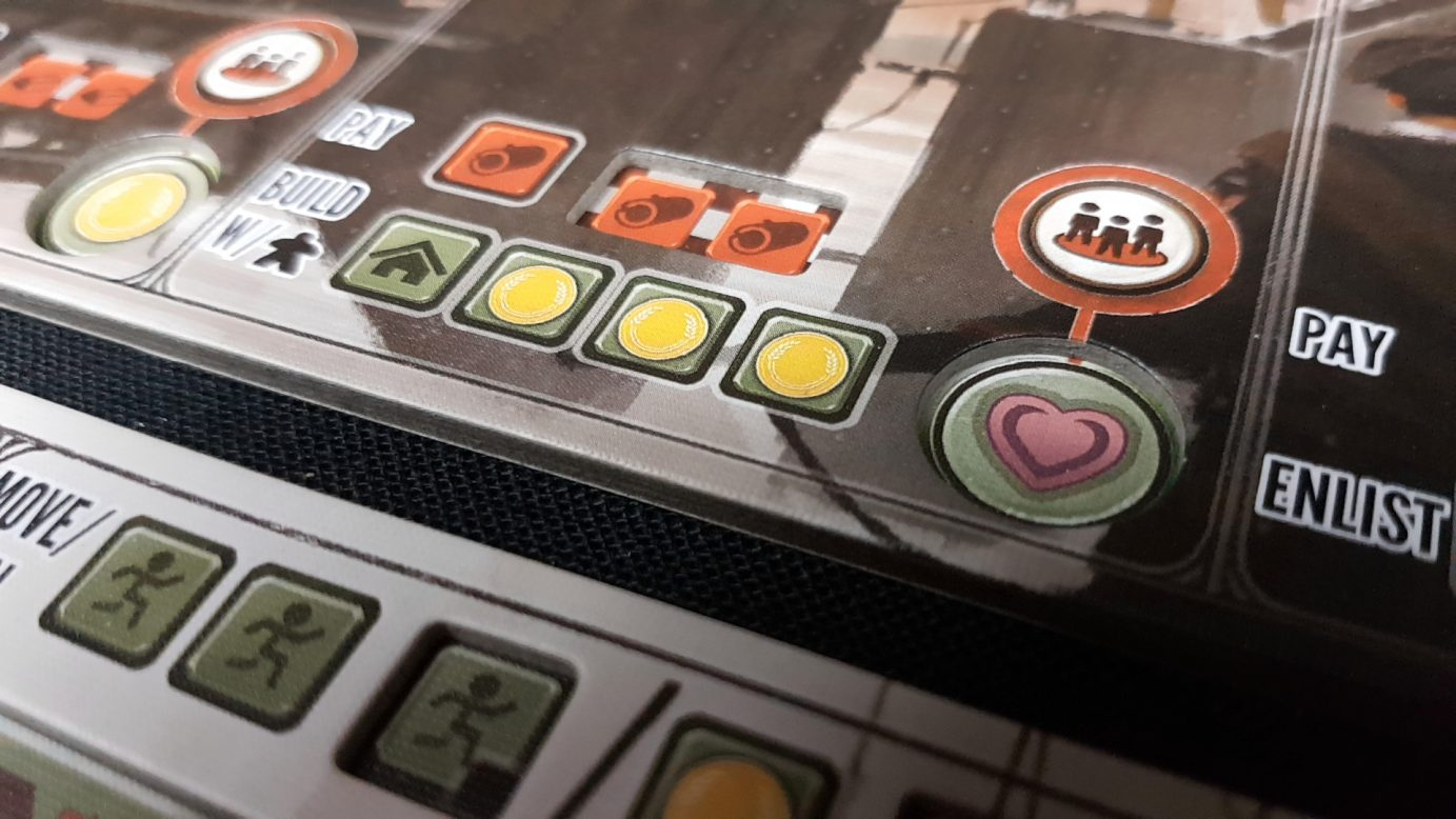 Slots on the player board