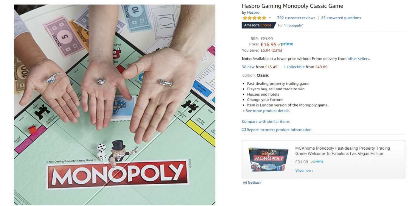Monopoly on Amazon