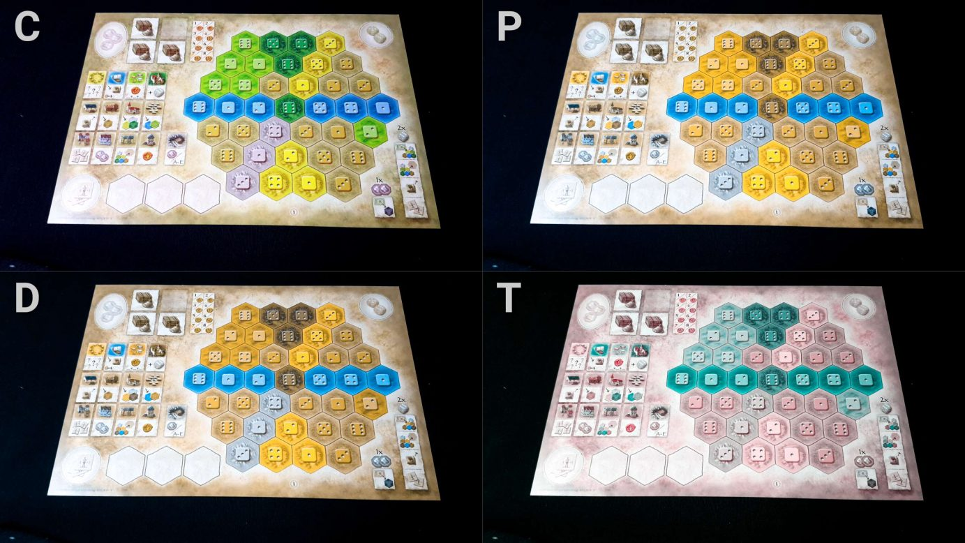 Colour blindness and player boards