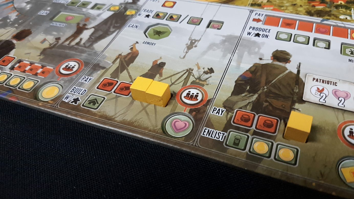 Indentations on scythe board