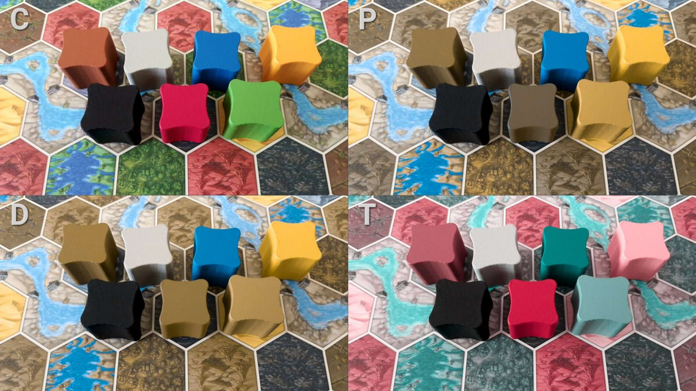 Colour Blindness Terra Mystica Tokens