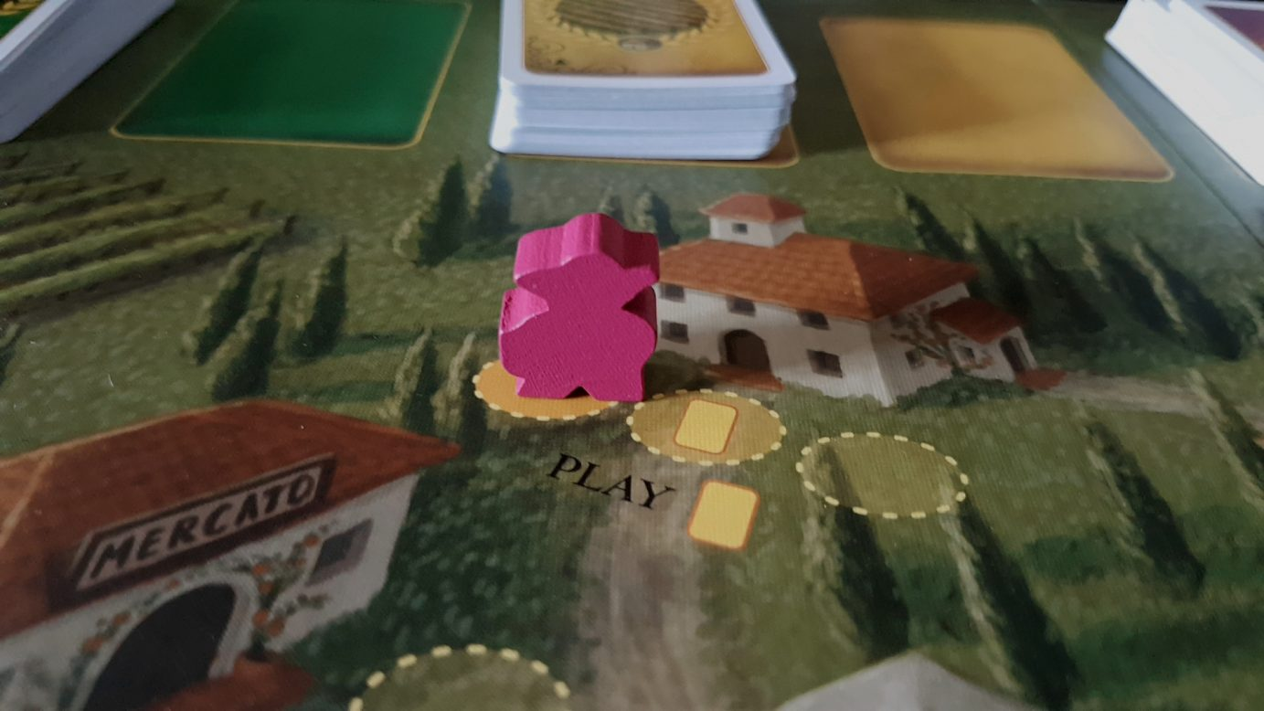 Close up on Viticulture board