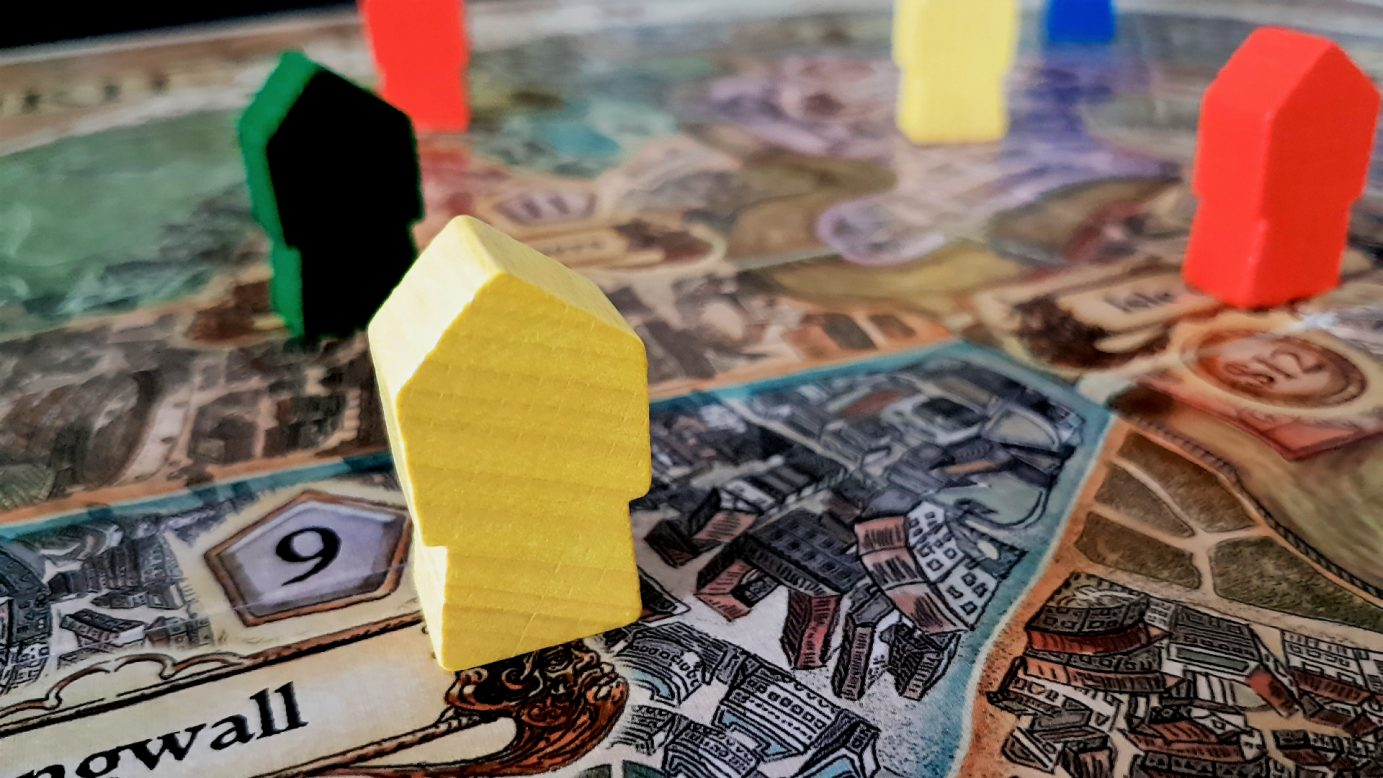 Some buildings on the Discworld board
