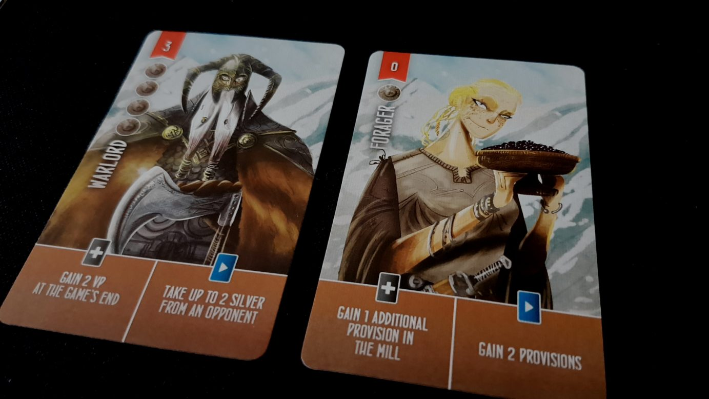 Cards in Raiders of the North Sea