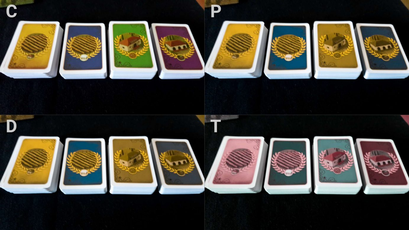 Colour blindness in Viticulture cards