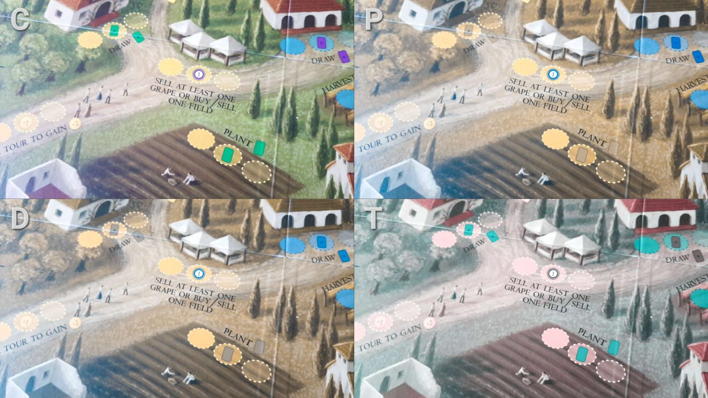 Colour blindness and worker spaces in Viticulture