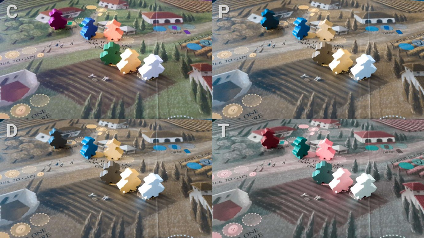 Colour blindness and meeples