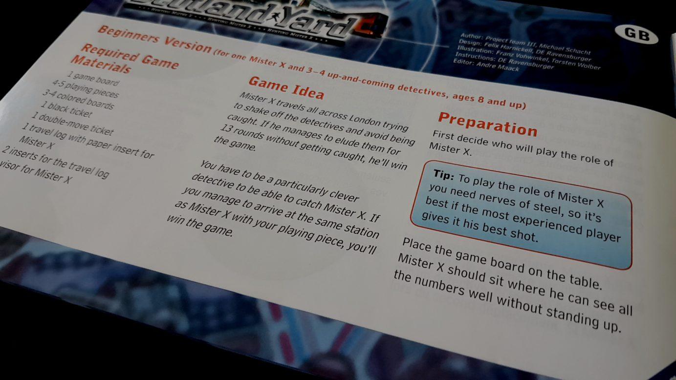 Scotland Yard manual