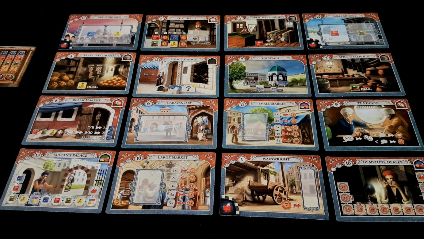 Layout of cards as board