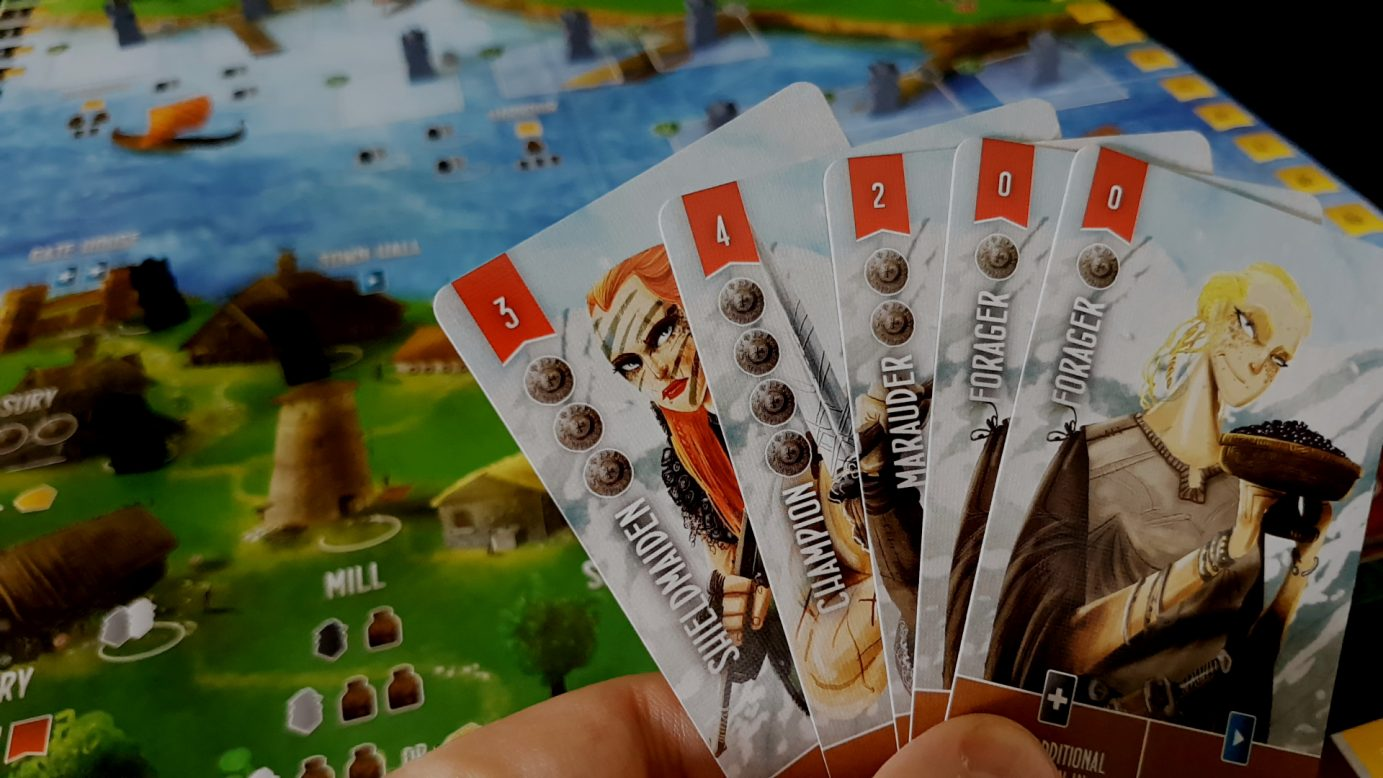 Raiders of the North Sea cards in hand