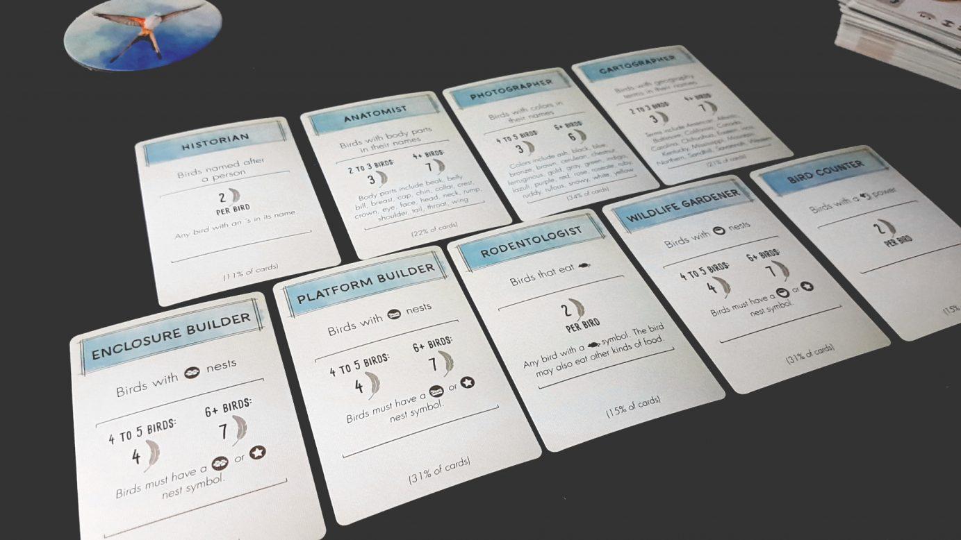Wingspan scoring cards