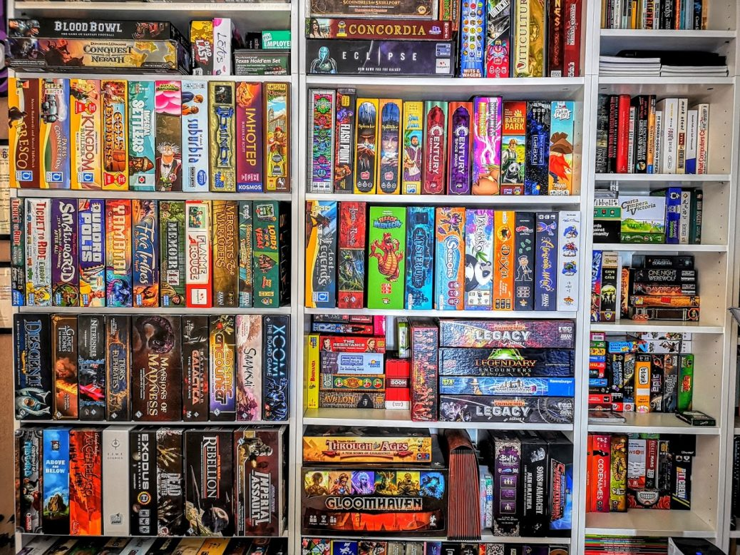 Some of my old game shelves