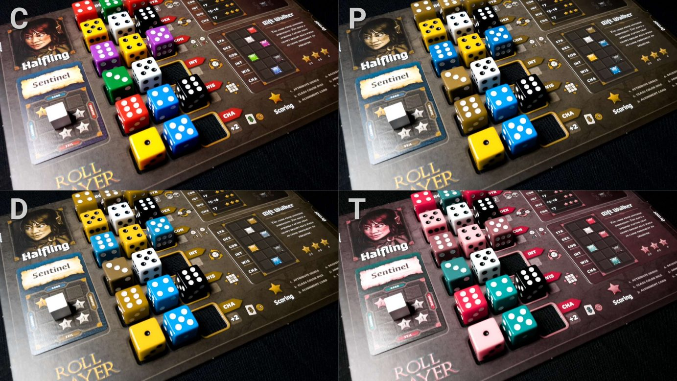 Allocated dice in roll player