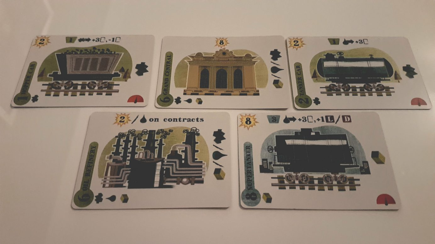 Cards in Isle of Trains