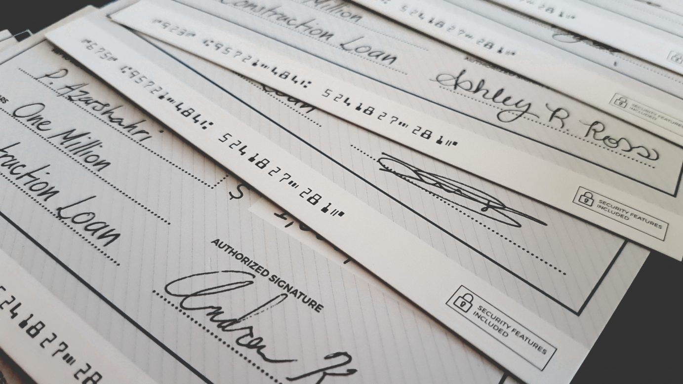 The Estates cheques