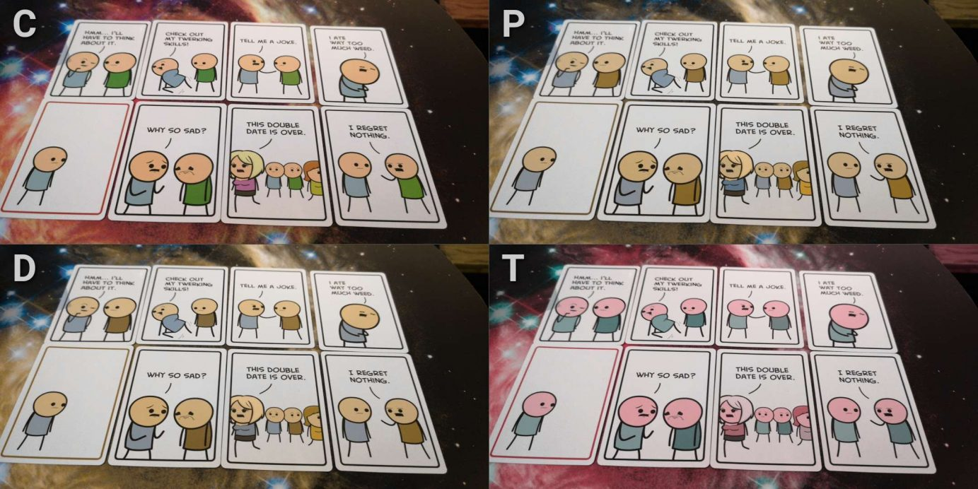 Colour blindness in Joking Hazard