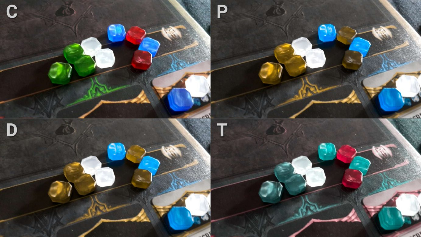 Colour blindness and gems