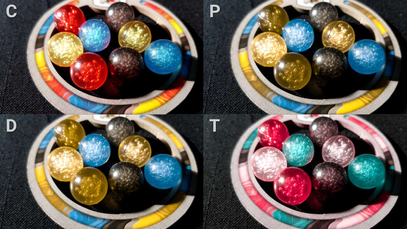 Colour blindness and marbles in Gizmos
