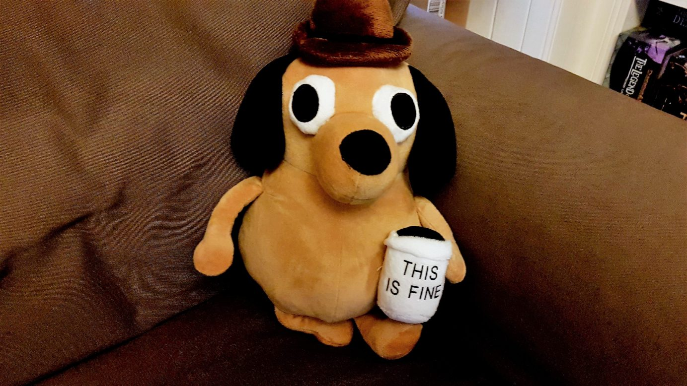 This Is Fine Dog Stuffed Animal, The Obligation Meeple Like Us